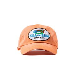S&S HAPPY DAYS WASHED BALL CAP (RETRO CORAL)