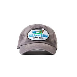 S&S HAPPY DAYS WASHED BALL CAP (RETRO GREY)