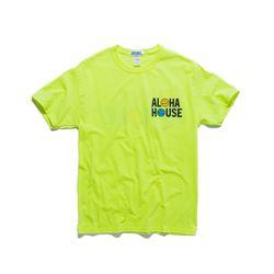 ALOHA HOUSE TEE (80s POP GREEN)