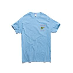 SLOW N STEADY TEE (PACIFIC BLUE)