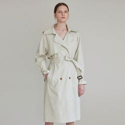 PASTEL DOUBLE TRENCH COAT [LIGHT GREEN]
