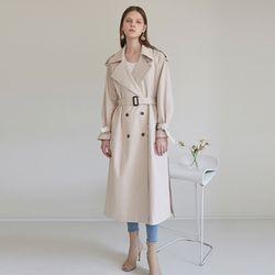 ISABEL DOUBLE LONG TRENCH COAT [BEIGE]