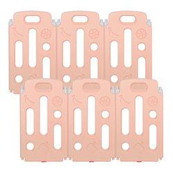 [끌라로] 베이비룸 울타리 6P(핑크)