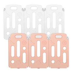 [끌라로] 베이비룸 울타리 6P(화이트3P+핑크3P)
