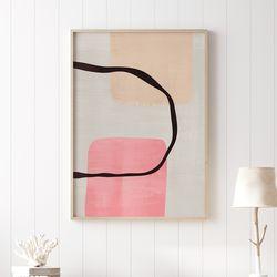 핑크웨이브 추상화 그림 A3 포스터+알루미늄액자