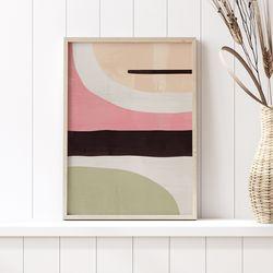 핑크레이어 추상화 그림 A3 포스터+알루미늄액자