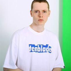 브릭 쉐도우 로고 티셔츠-화이트