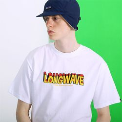 롱웨이브 티셔츠-화이트