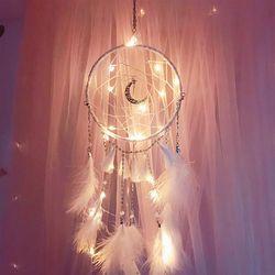 달 드림캐쳐 LED 무드등 드림캐처 벽장식품