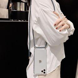 LG G7 Q60 넥스트랩 목걸이줄 스트랩 투명 젤리케이스