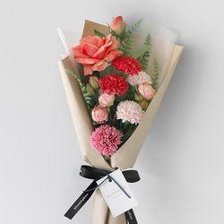 로즈 카네이션 트로피칼 크라프트 꽃다발