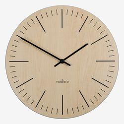 내츄럴함 그대로 자연을 닮은 심플한 내츄럴 라인 무소음벽시계