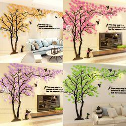 로맨틱 트리 아크릴 벽 스티커