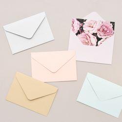 파스텔  컬러 엽서 봉투 10매