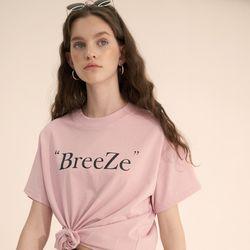 (CTC2) 브리즈 클래식 로고 티셔츠 핑크