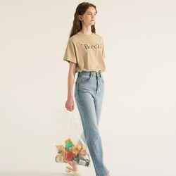 (CTC2) 브리즈 클래식 로고 티셔츠 베이지