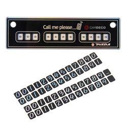 (PMC)퍼즐 슬림 주차알림판주차번호판전화번호알림판