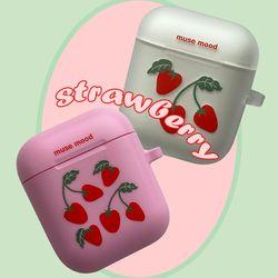 [뮤즈무드] strawberry airpods case (에어팟케이스)