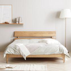 네이처 엠버 원목 침대 Q 매트없음 2colors