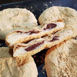 아침대용 인절미 팥빵 소부당 전통 팥앙금 인절미 떡방아빵 4개