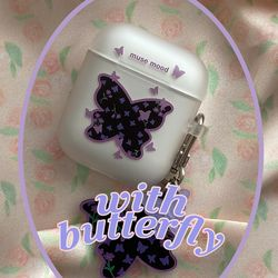 [뮤즈무드] with butterfly airpods case (에어팟케이스)