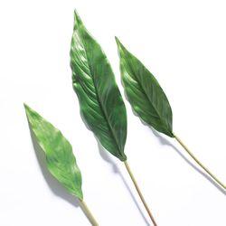 나뭇가지 조화 보태니컬 인테리어 스파티필럼 잎 5개 묶음