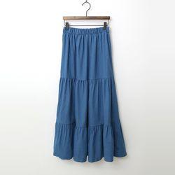 N Summer Denim Cancan Long Skirt