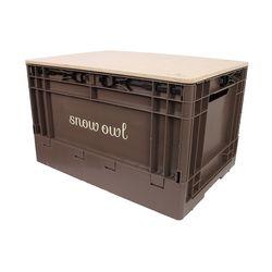 스노우아울 유틸리티 폴딩 수납박스+우드상판