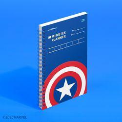 마블 텐미닛 플래너 100DAYS - 캡틴 아메리카