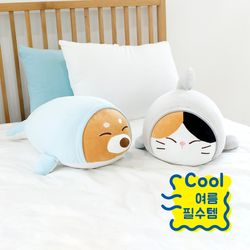 모찌타운 상냥한물개씨 냉감 모찌쿨쿠션 대형인형