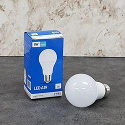장수 A19 8W LED 볼전구 (주광색) 6500K 3등급