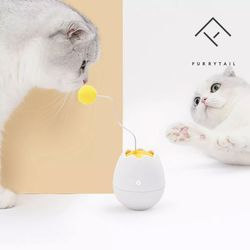 퓨리테일 에그 캣토이 지능형 움직이는 고양이 장난감
