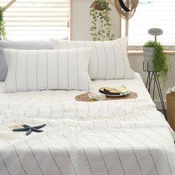 플레인 시어서커 싱글 홑이불  침대패드세트 S