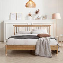 네이처 이안 오크 원목 침대 Q 포켓매트 2colors