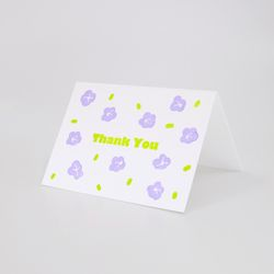 Like Lilac 보랏빛 향기 레터프레스 미니카드