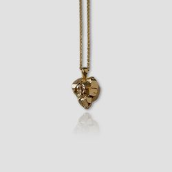 Heart Stone Necklace (Gold)
