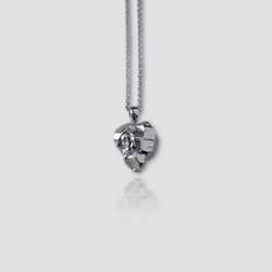 Heart Stone Necklace (Silver)