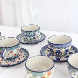 리넥 폴란드명품그릇 티잔&소서 예쁜컵 컵받침