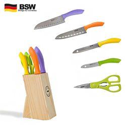 BSW 고급주방용품 심플원 6종 칼세트 칼블럭세트