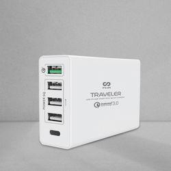 이츠라이프 트레블러 5포트 QC3.0 PD 고속 멀티 충전기