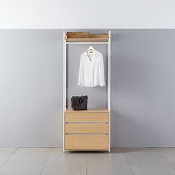 모아이 조이 철제 드레스룸옷장 800 서랍 행거DIY
