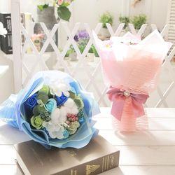 코튼 비누장미 꽃다발 핑크 로즈데이 성년의날 선물