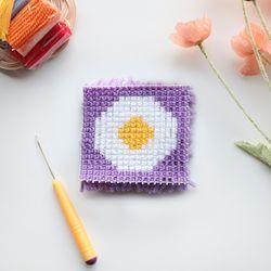 꼬마 달걀후라이 스킬자수 만들기 패키지 DIY