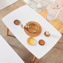 홈인홈 화이트 HPL 원목 식탁 겸 테이블 1280 AD013