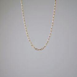 Rectangle Chain Necklace (Gold)