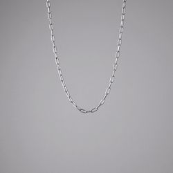 Rectangle Chain Necklace (Silver)