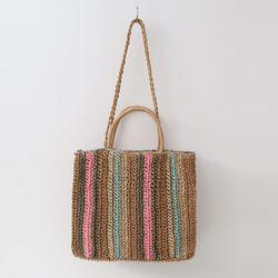 N Rattan Rainbow Shoulder Bag