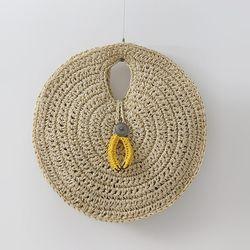 N Rattan Circle Bag
