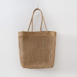N Rattan Square Shoulder Bag
