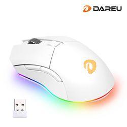다얼유 EM901 RGB 매트화이트 게이밍 무선 마우스